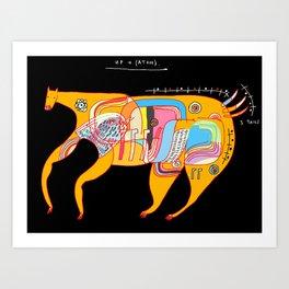 Up and (atom) Art Print