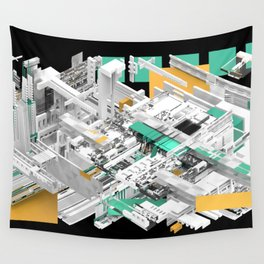 Silicon Silver Wall Tapestry
