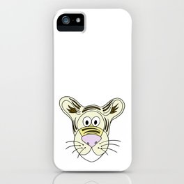 Hand drawn funny looking tiger iPhone Case