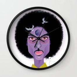 Purple Prince Wall Clock