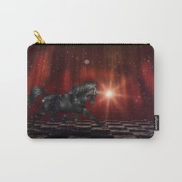 Black Unicorn on the Stage Carry-All Pouch