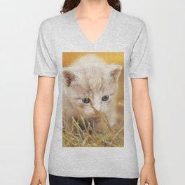Kitten | Chaton Unisex V-Neck