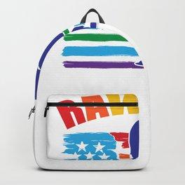 Pride Dinosaur Rawrrr Rainbow Dino LGBT Backpack