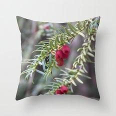 Autumnal Berries Throw Pillow