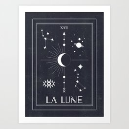 The Moon or La Lune Tarot Art Print