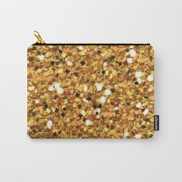 Gold Shimmer Macro Glitter Carry-All Pouch