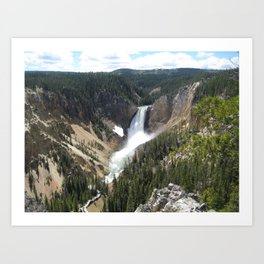 Yellowstone Grand Canyon Art Print