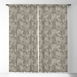 Abstract Geometrical Triangle Patterns 2 Benjamin Moore 2019 Trending Color Pashmina Beige AF-100 Blackout Curtain