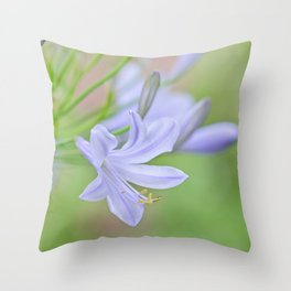 Simple Agapanthus Throw Pillow