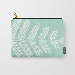 Mint Leaflets Carry-All Pouch