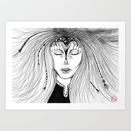 Lady in Black Art Print