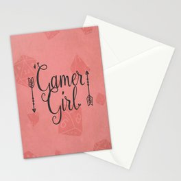 Gamer Girl Stationery Cards
