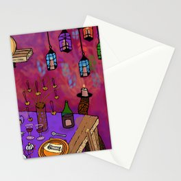 Autumn Table in Candlelight Stationery Cards