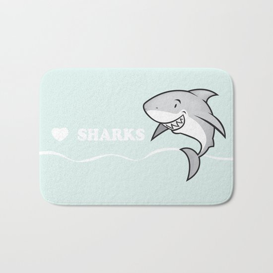 Great white buddy Bath Mat