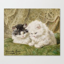 RONNER-KNIP, HENRIETTE 1821 Amsterdam - 1909   Two Kittens Canvas Print