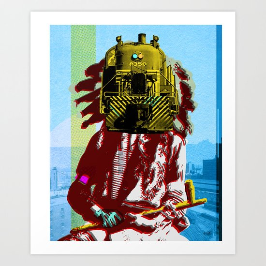 Indian Pop 45 Art Print