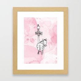 Le beau zèbre Framed Art Print