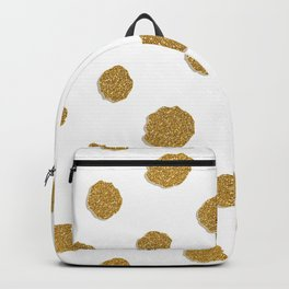 Golden touch III - Gold glitter effect polka dot pattern Backpack