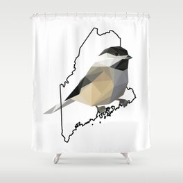 Maine – Black-Capped Chickadee Shower Curtain