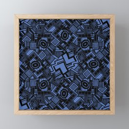 Abstract blue and black 11 Framed Mini Art Print