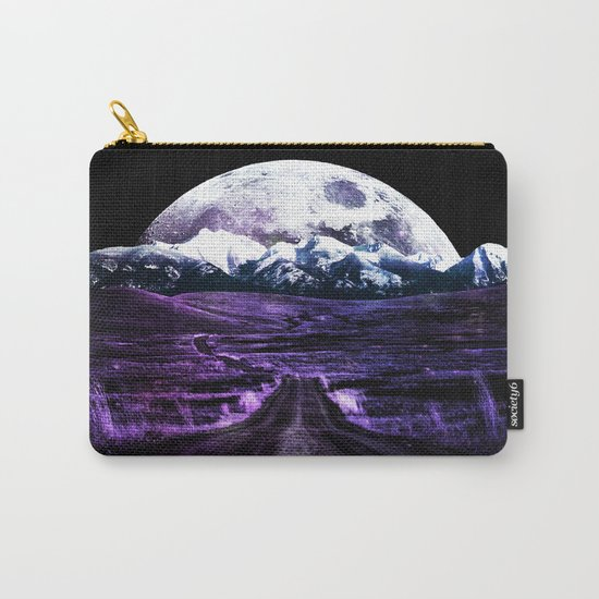 Highway to Eternity (moon mountain) violet Carry-All Pouch