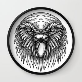 Kakapo Owl Parrot Head Tattoo Wall Clock