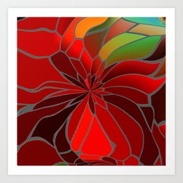 Abstract Poinsettia Art Print