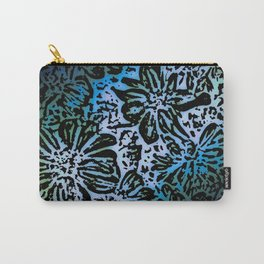 Marigold Lino Cut, Marine Diagonal Gradient Carry-All Pouch