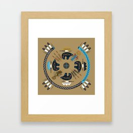 American Native Pattern No. 114 Framed Art Print