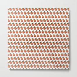 Glitter Peach Bomb Pattern Metal Print