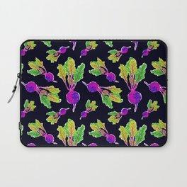 Feel the Beet in Skillet Black + Electric Purple Laptop Sleeve