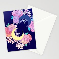 Floral Moon Stationery Cards