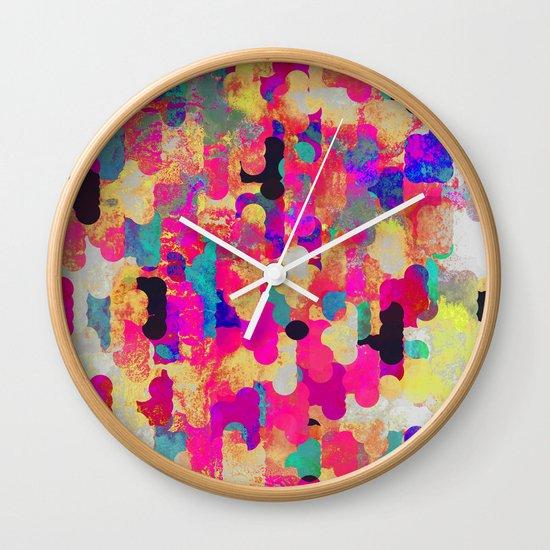 Neon Tambourine Wall Clock