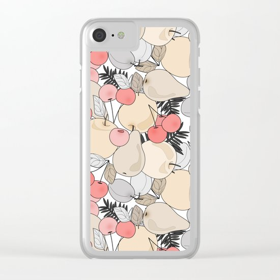 Fruit market . 3 Retro . Clear iPhone Case