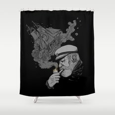 A Captains's Memory Shower Curtain
