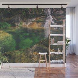 The green paradise lake Wall Mural
