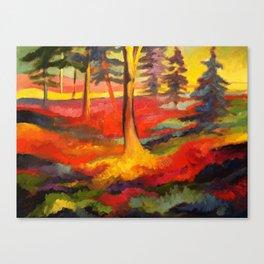 Vibrant Forest Canvas Print