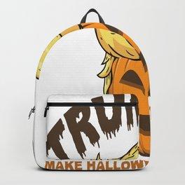 Trump Trumpkin Halloween Great again election vote Backpack