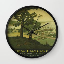 Vintage poster - New England Wall Clock