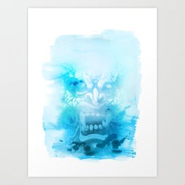 Démon Blue Art Print