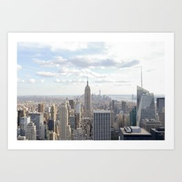 Manhattan skyline view Art Print