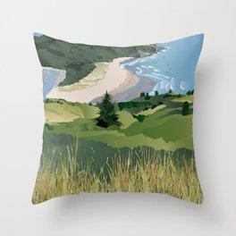 View from Cascade Head Throw Pillow
