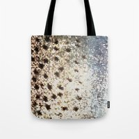 trout Tote Bags featuring Trout Scales by Mister Groom