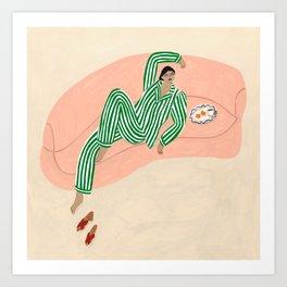 Yolke Girl Art Print