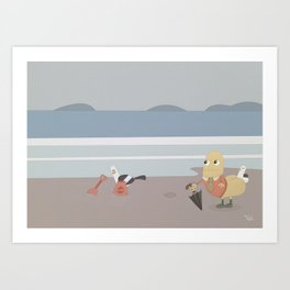 Sir Richard Rear Beach Art Art Print