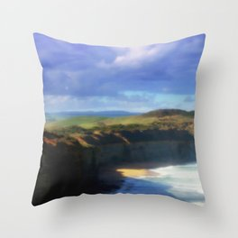 Our land is girt by Sea Throw Pillow