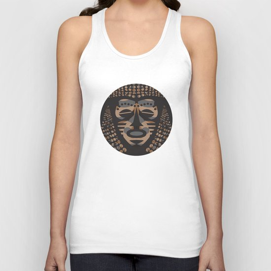 African Tribal Mask No. 1 Unisex Tank Top