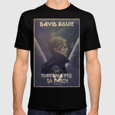 David Bowie The man who fell to earth Black MEDIUM Mens Fitted Tee