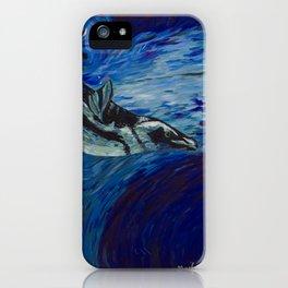 Diving penguin iPhone Case