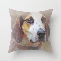 Hound dog Throw Pillow